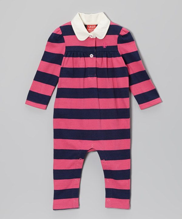 Look at this #zulilyfind! Pink Stripe Playsuit - Infant by IZOD #zulilyfinds