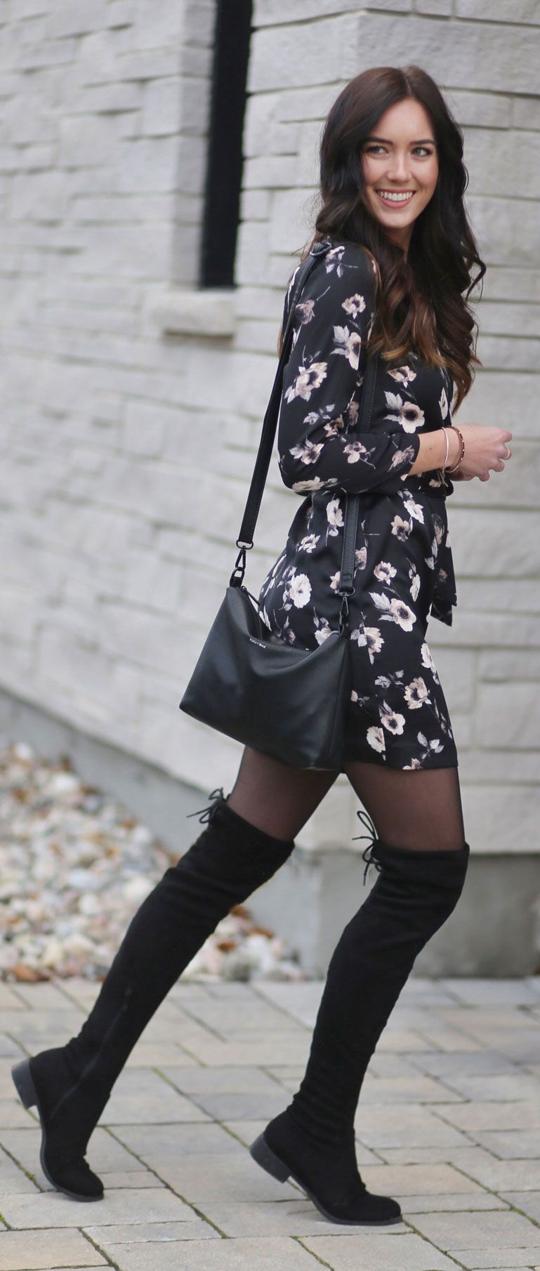 Fall S Biggest Trends 7 Satin Dress Marie S Bazaar High Knee Boots Outfit Fashion Knee Boots Outfit [ 1810 x 769 Pixel ]