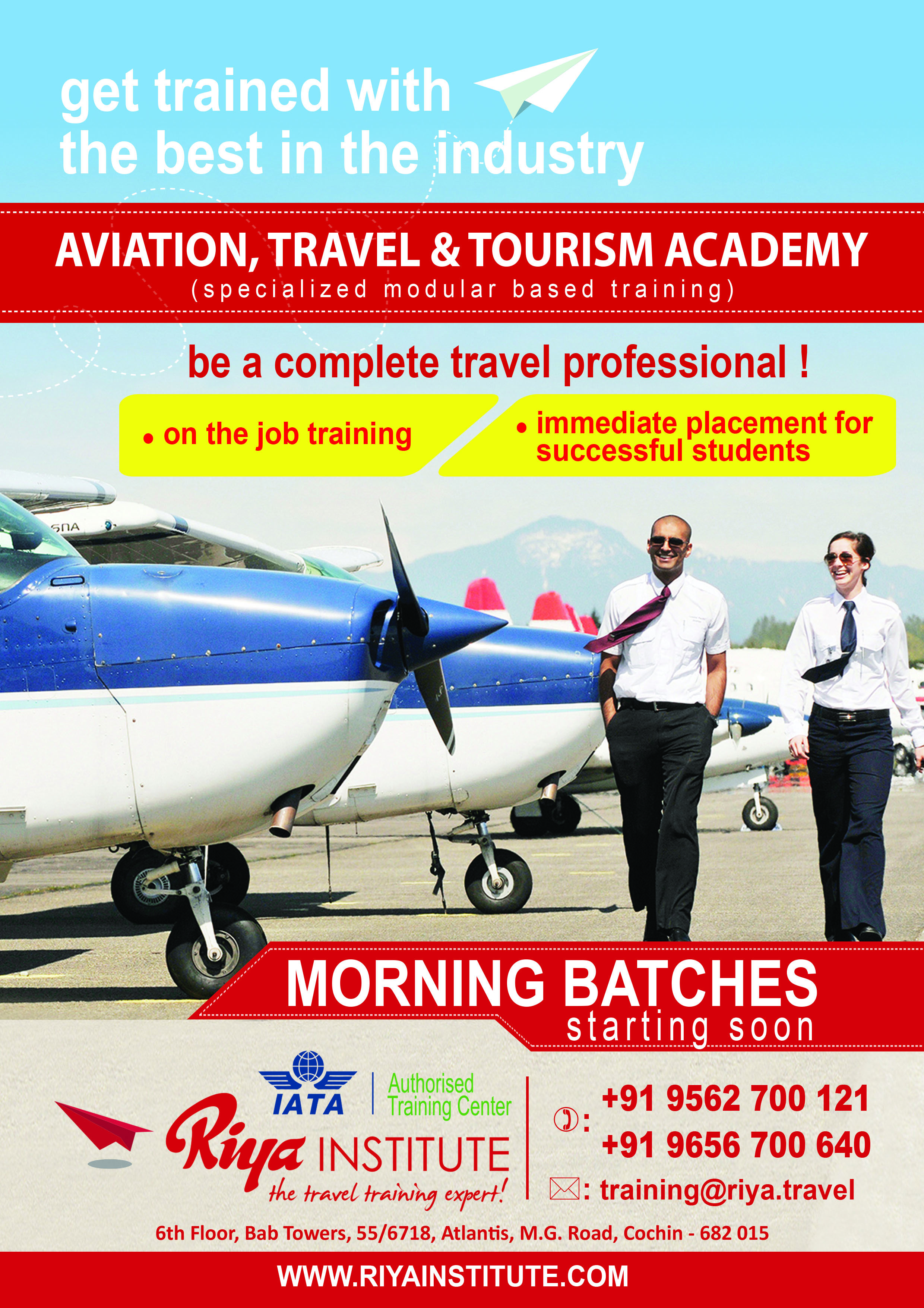 Admission started for iata classes for details get in