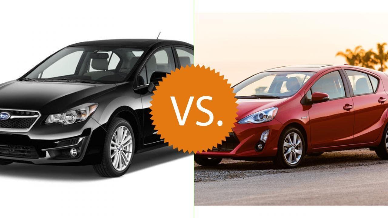 Compare 2016 Subaru Impreza Vs 2016 Toyota Prius C