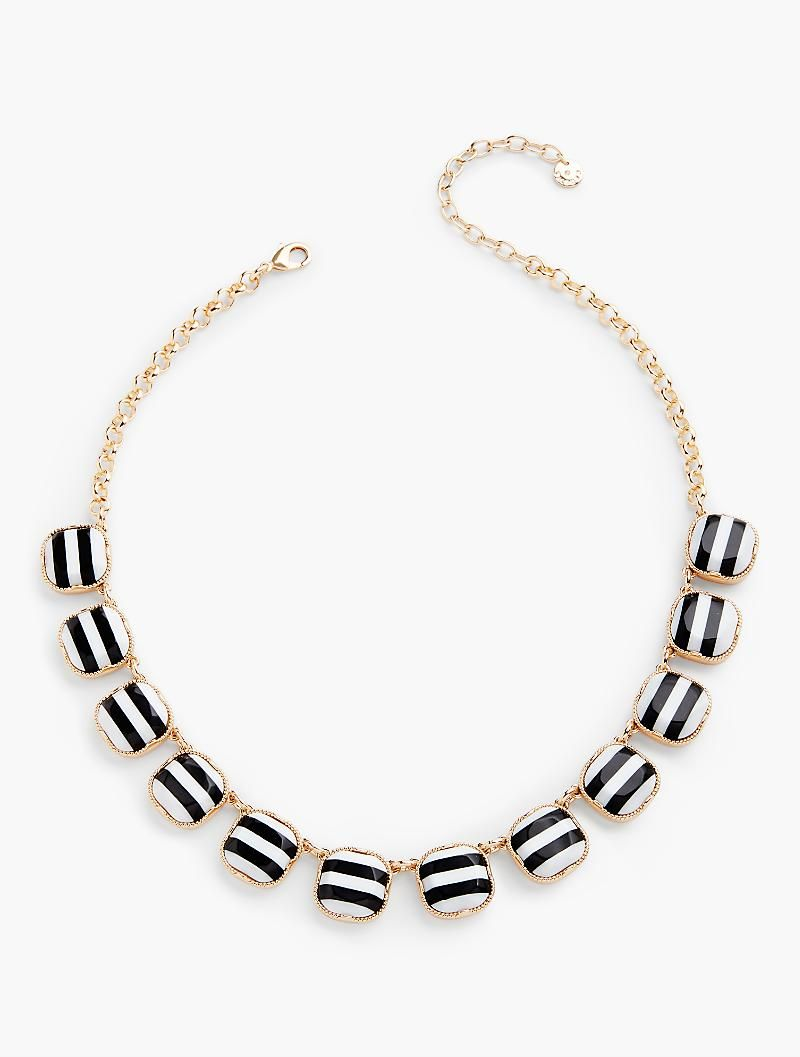 Talbots Zinc and epoxy necklace, $70; talbots.com