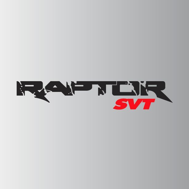 Ford Raptor Custom Decal Color Matte Black With Glossy Red Svt