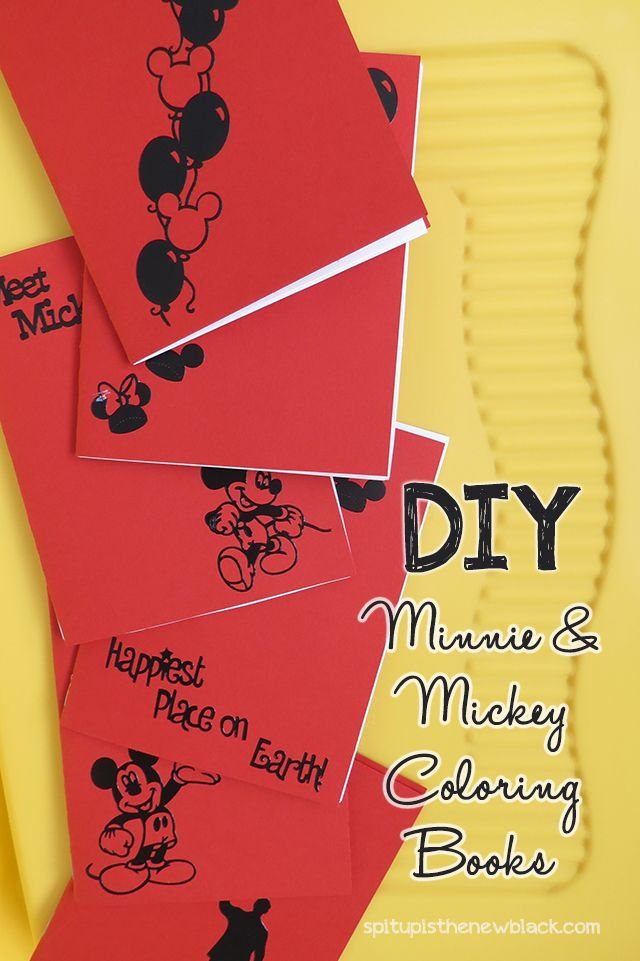 DIY Minnie Mickey Mouse Coloring Books