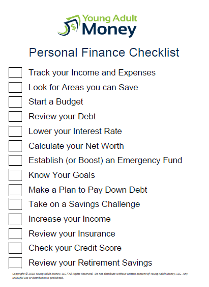 The Ultimate Personal Finance Checklist Personal Finance Finance Emergency Fund