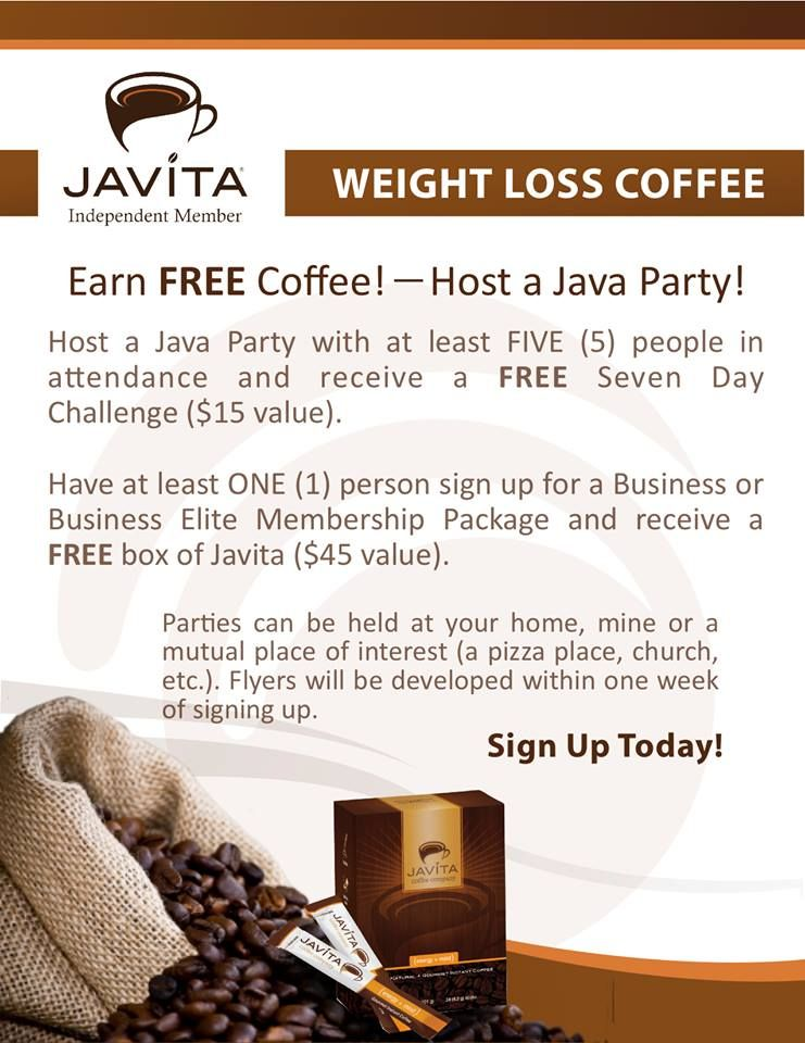 Revised Javita company based version of party hosting flyer. www.JavitaGenesis.com
