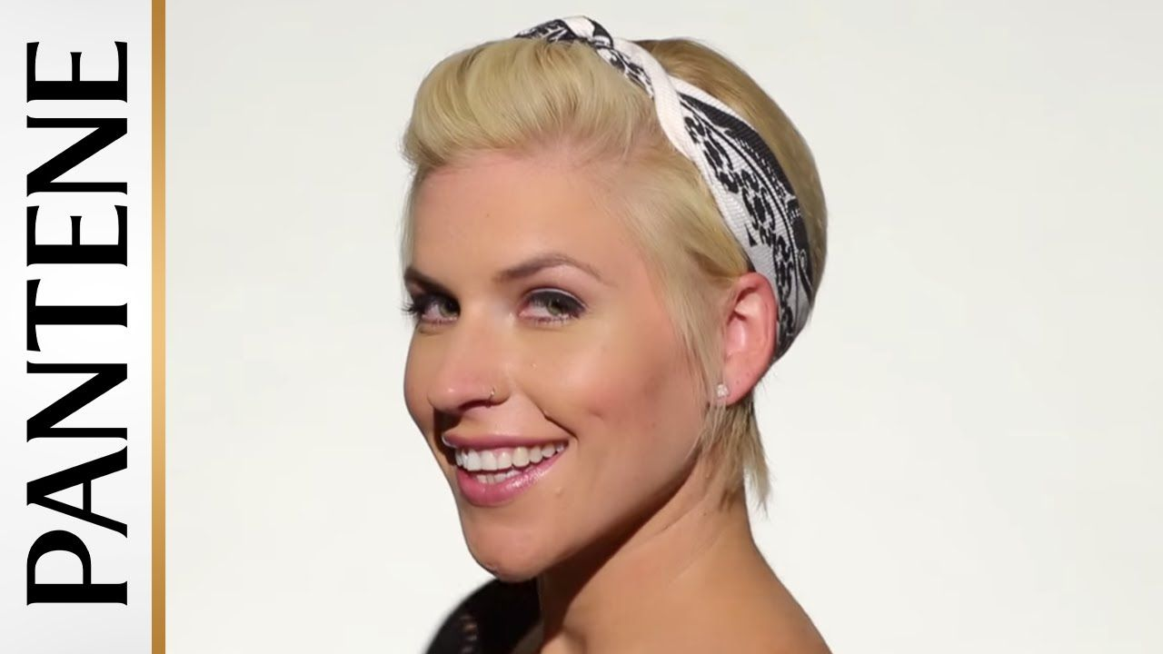 Hairstyles With Bandana Unique Easy Hairstyles For Short Hair Bandana Pinup Pixie Cut  Hair