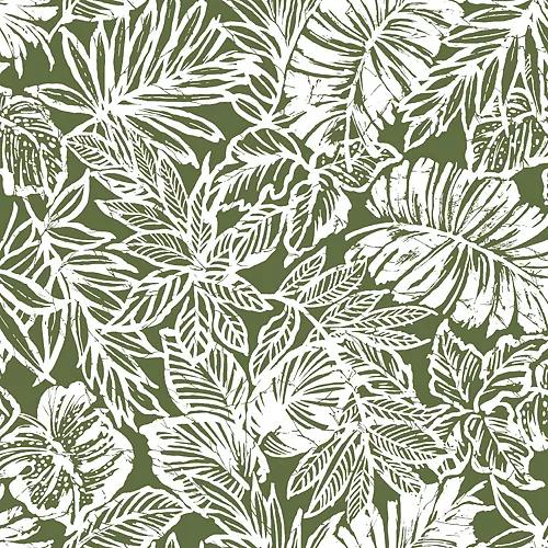 Batik Tropical Leaf Peel Stick Wallpaper In 2020 Peel And Stick Wallpaper Tropical Wallpaper Wallpaper Roll