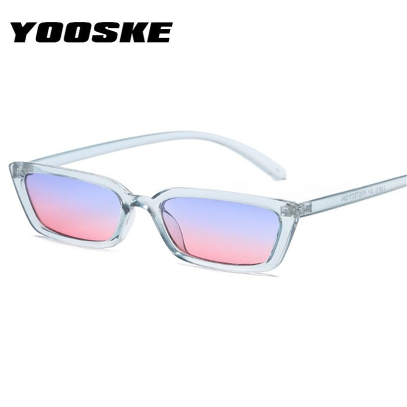 YOOSKE Fashion Flat Top Cat Eye Sunglasses Women Vintage