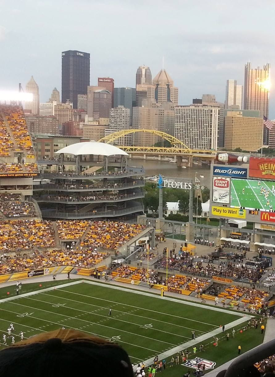The view from Heinz Field Pittsburgh city, Steelers
