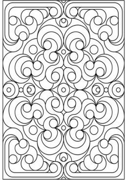 geometric design colouring pictures stained glass colouring pages - Design Coloring Pages