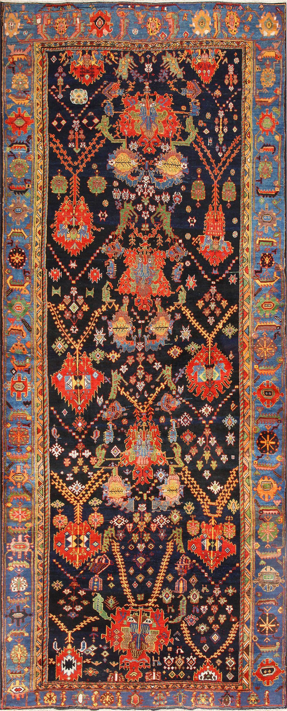 Colorful Antique Persian Bakhtiari Rug 48728 By Nazmiyal