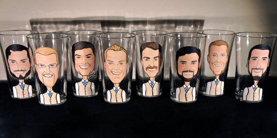 Groomsmen Set of 8 Caricature Portraits on 16 by MySistersBoutique, $360.00