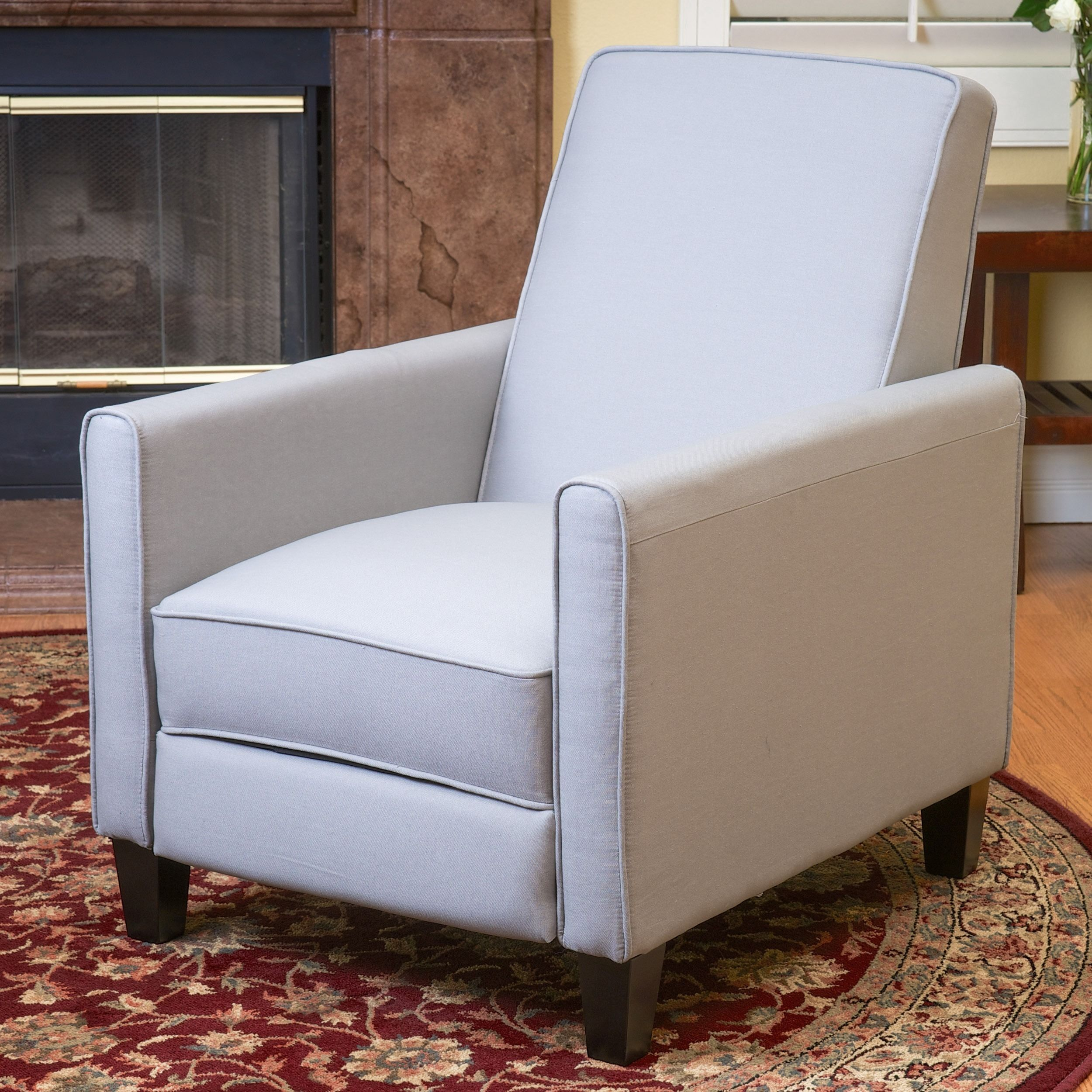 Christopher Knight Home Darvis Grey Bonded Leather Recliner Club Chair    Overstock Shopping   Big Discounts