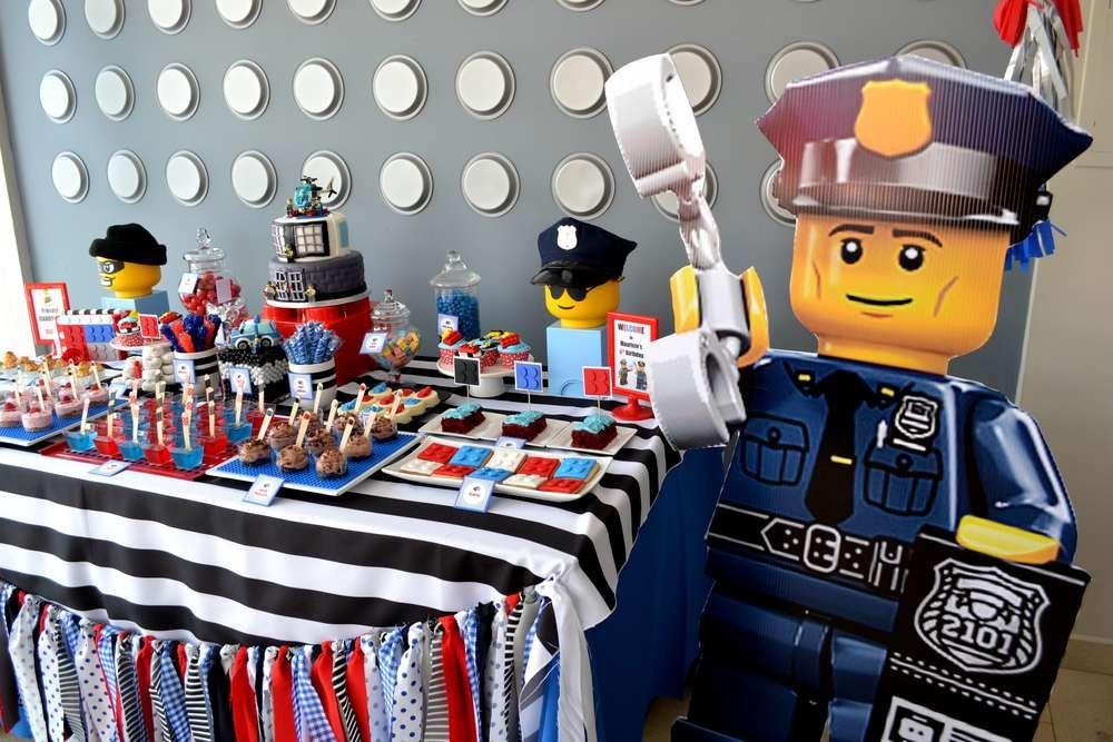 LEGO City / Police Birthday Party Ideas | Lego city police, Birthday ...