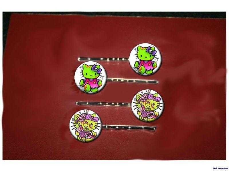 Hello kitty zombie bobby pins