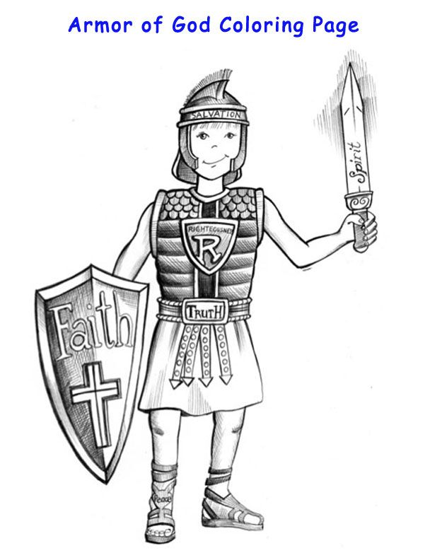 Armor of God coloring page   Armor of God   Pinterest