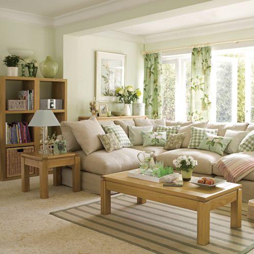 Mint And Beige Kitchen | Living Room On Mint Green Soft Beige Living Room  Sofa Pillows. Dekoration WohnzimmerGemütliche ...