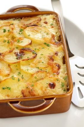 Old fashioned scalloped potatoes and ham 42