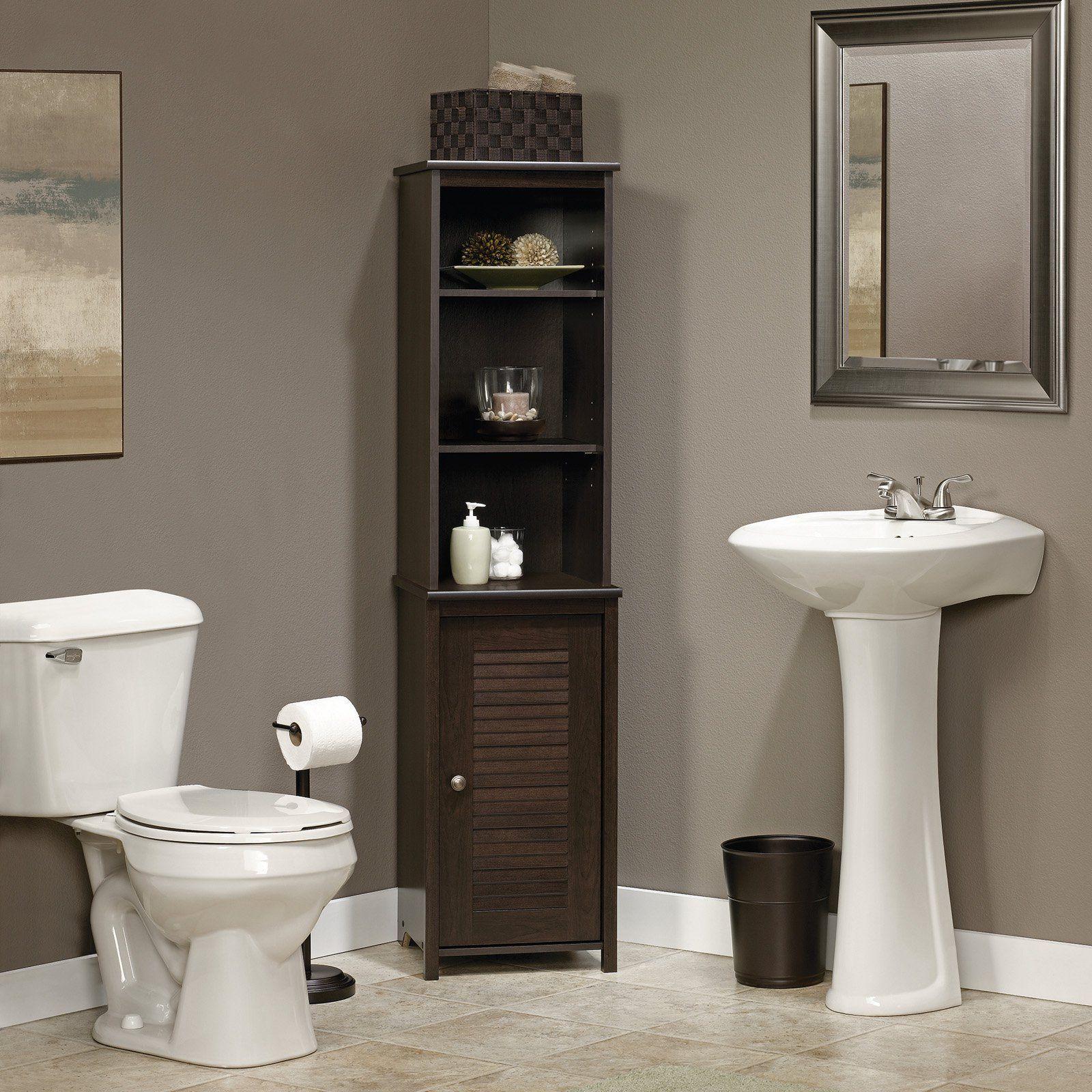 Sauder Peppercorn Linen Tower 414817 Products Bathroom