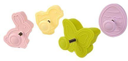 Silikomart Mini Cookie Cutters w/ Spring Ejection (Set of 4), Assorted Easter on shopstyle.com