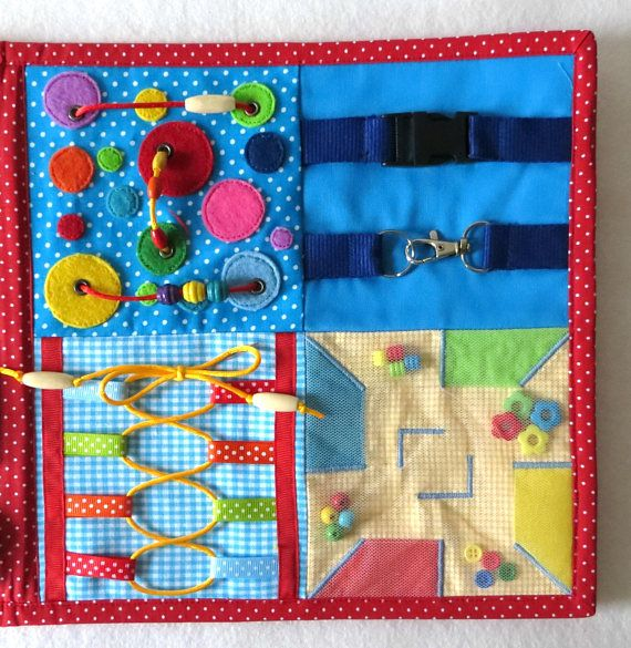 Activity Fabric Board Therapy Toy Autistic Children Sensory Travel Toy Occupational Therapy