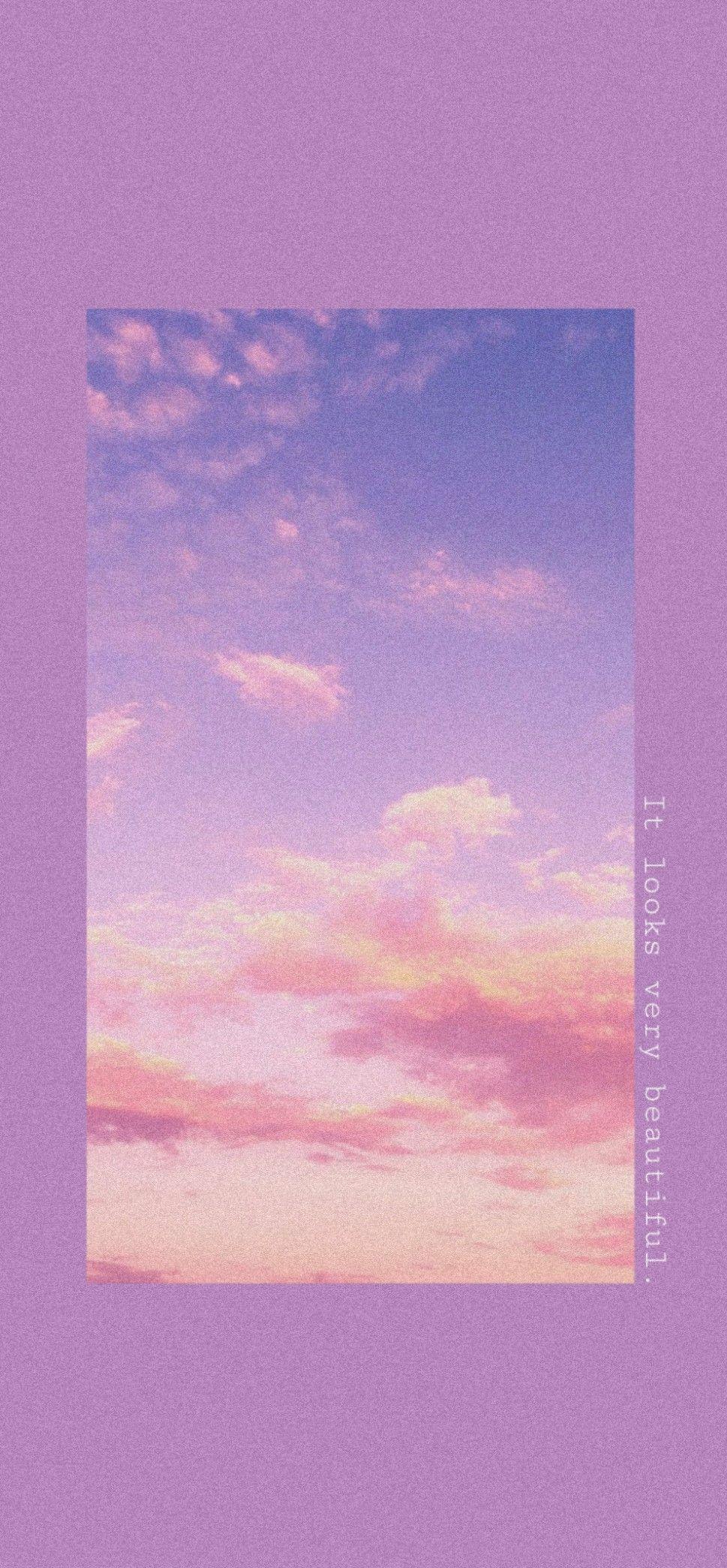 Purple Sky Aesthetic Pastel Wallpaper Cute Wallpaper Backgrounds Pretty Wallpapers