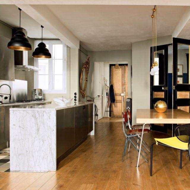 Beautiful Cuisine Moderne Ancien Ideas Yourmentorinfo - Cuisine moderne avec carrelage ancien pour idees de deco de cuisine