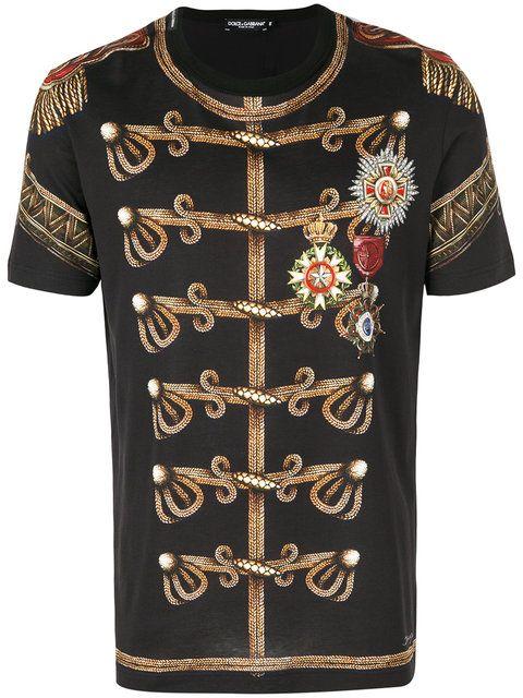 d9668f96 Shop Dolce & Gabbana military print T-shirt . | T-Shirts | Dolce ...