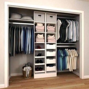 Diy Wood Closet Shelves Ideas New Diy Closet Shelving Systems Closet Shelving System On One Half Rod Closet Layout Closet Remodel Closet Designs
