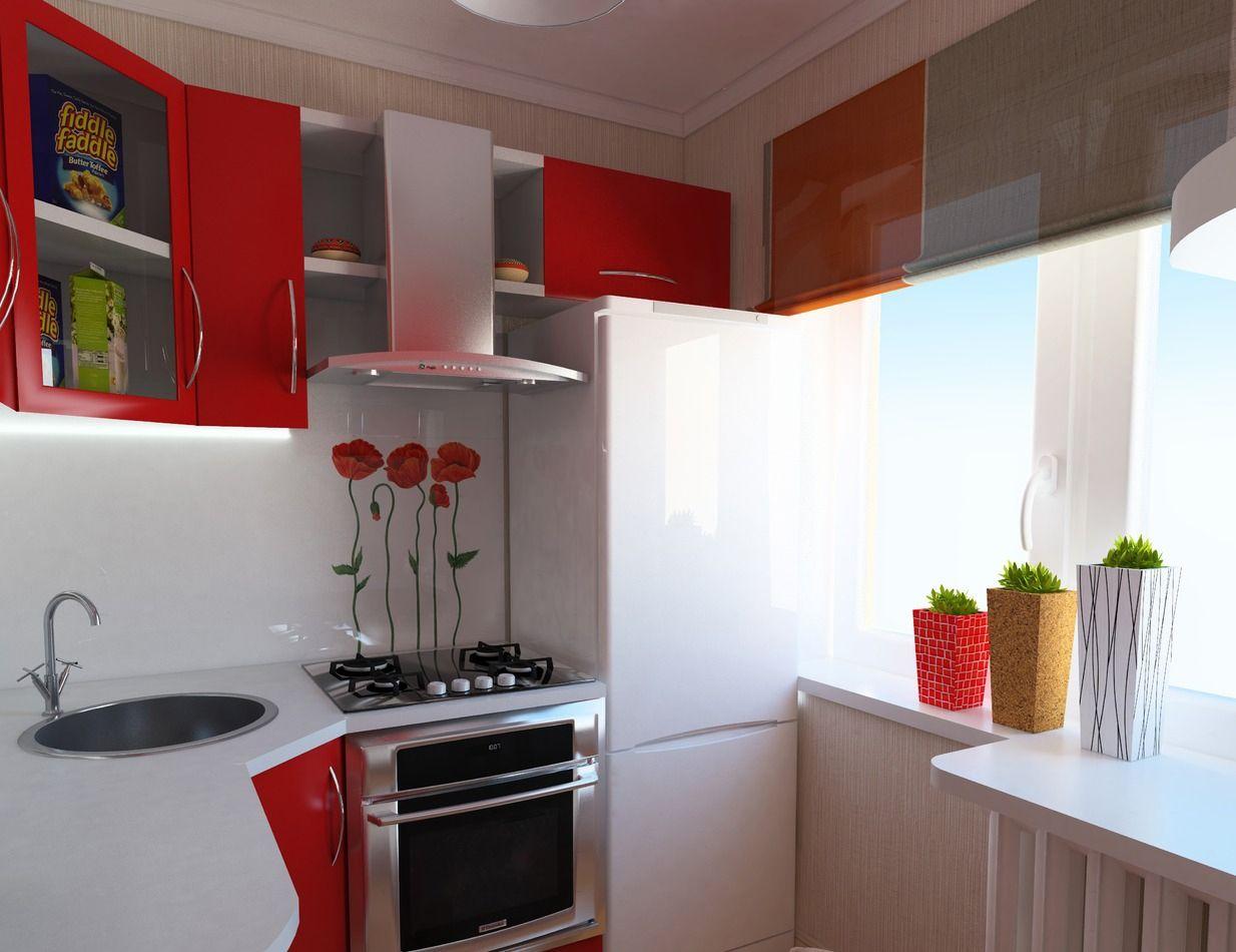 Дизайн интерьера маленькой кухни в хрущевке: фото с идеями ...