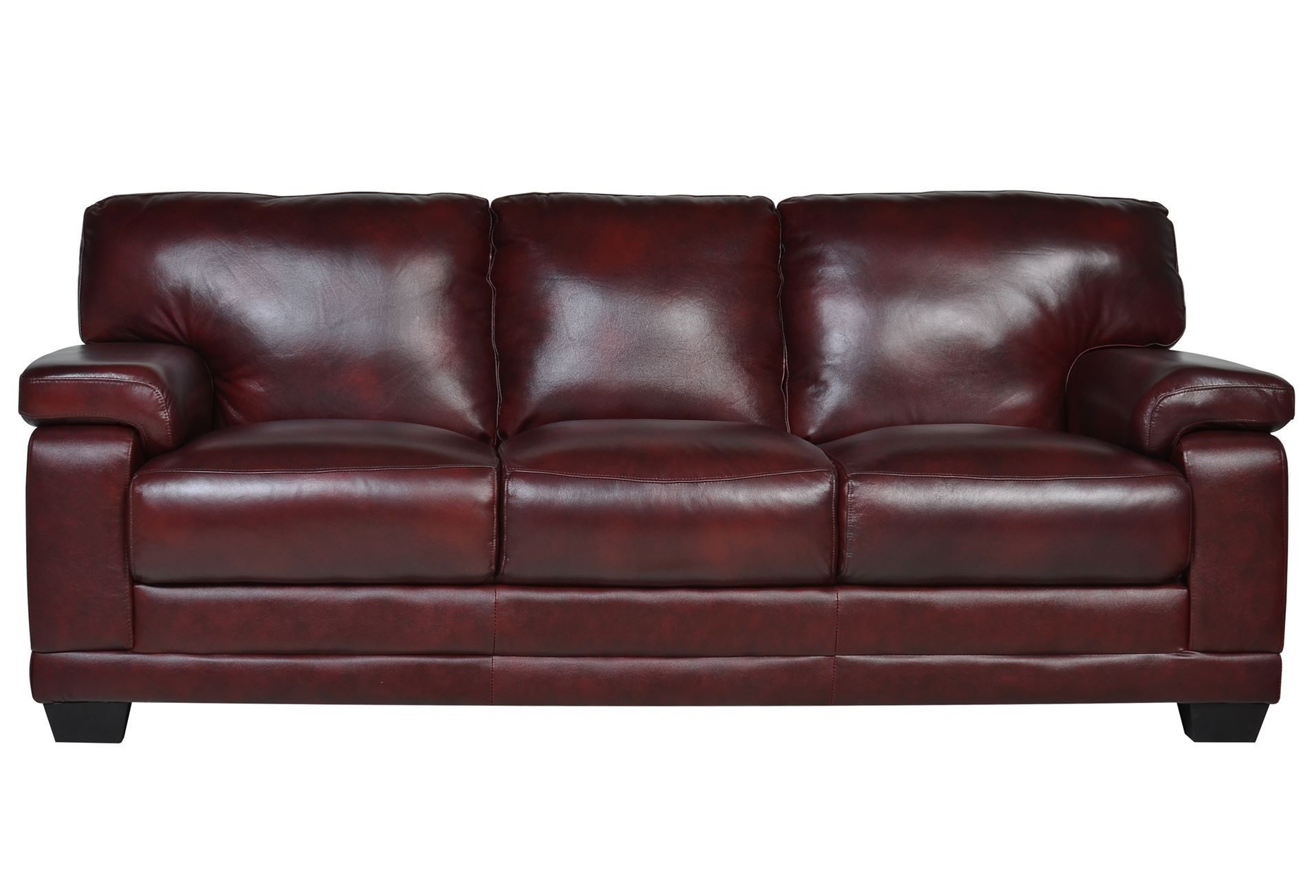 Experience The Buttery Smooth Texture Of 100 Leather And Deluxe Support Of Pocket Coil Cushions On Our Blue Leather Sofa Navy Blue Leather Sofa Burgundy Sofas
