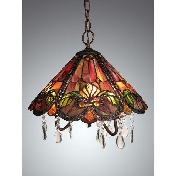 ameria 3 light red tiffany style hanging lamp lighting pinterest
