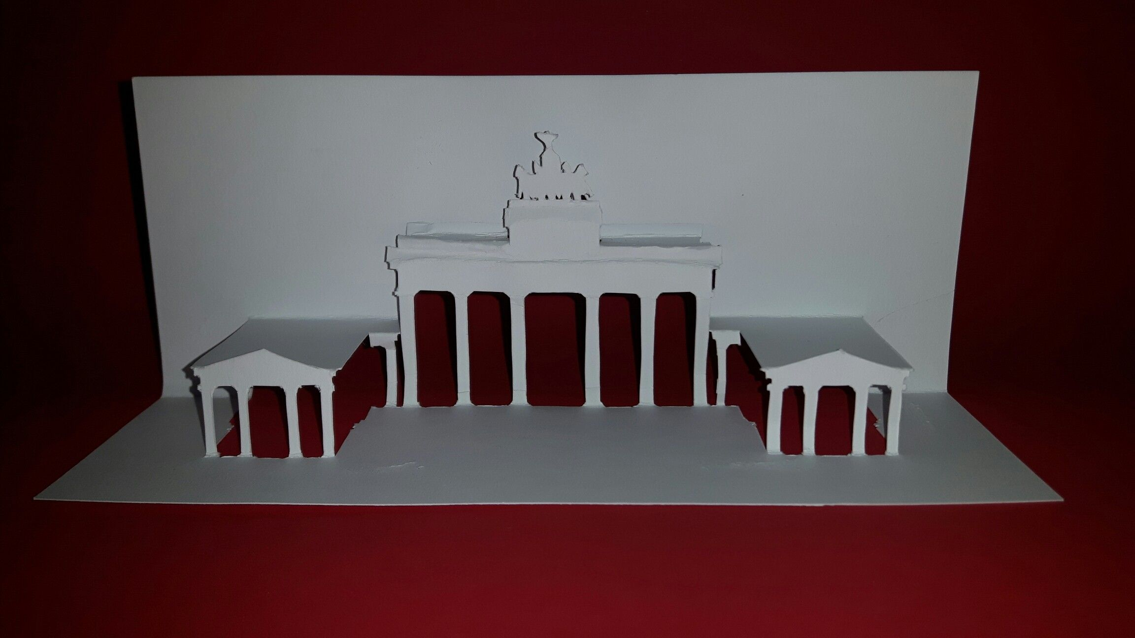 Pop Up Karte Paper Architecture Brandenburger Tor Berlin Deutschland
