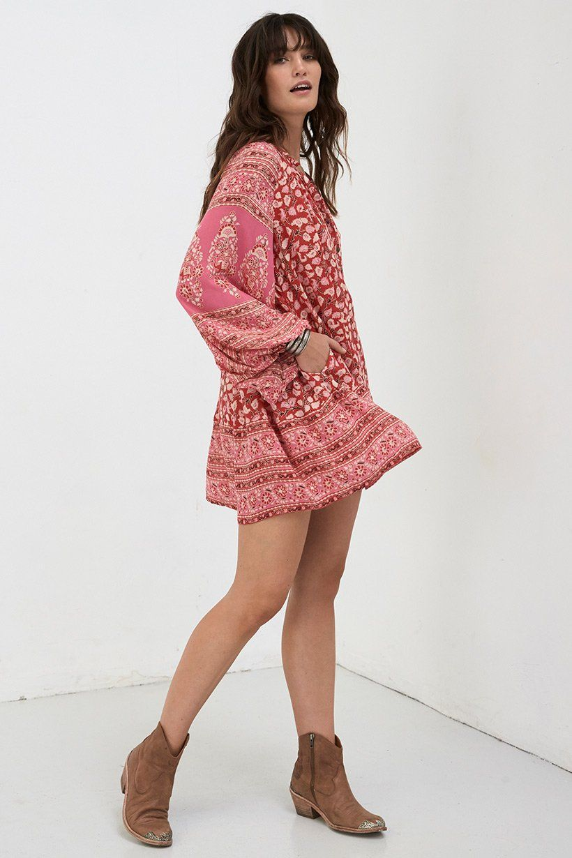 6b1fc5ca9930 Spell Designs Delirium Smock Mini Dress