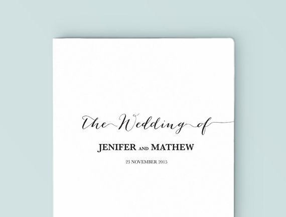This Vintage Style Design Wedding Program Simple But Elegant Is