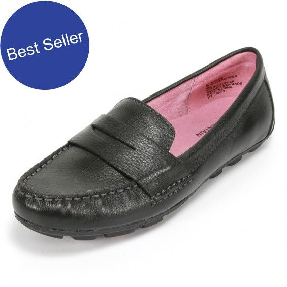 Comfortable Sole Black Moccasins Leather Moccasins