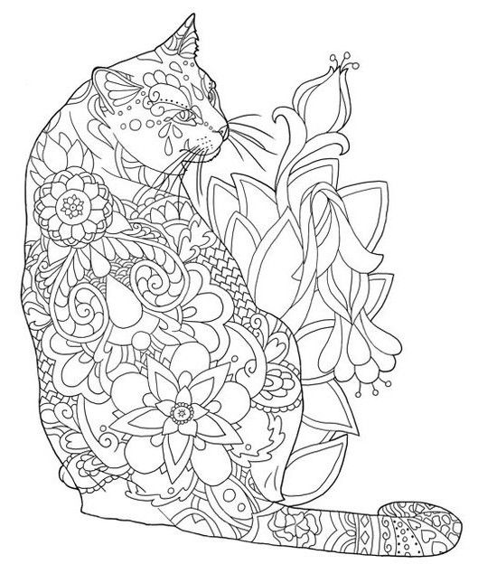 Pin By Wanda Twellman On Just Cats 3 And A Few Dogs Animal Coloring Pages Cat Coloring Page Kitty Coloring