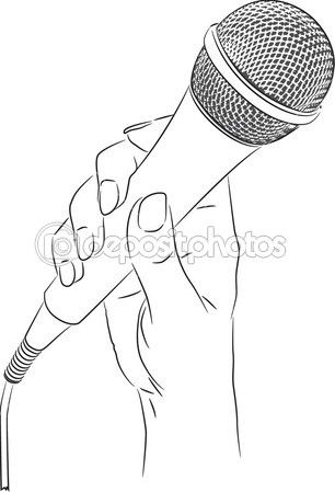 This Picture Of A Microphone I Can Now Draw Microphone Drawing How To Draw Hands Hand Drawing Reference