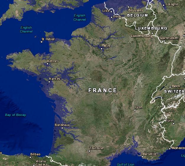 Si Toute La Glace Fond Notre Terre Finirait Par Ressembler A Ca Ici La Bretagne Photo Choc Planete Mer Et Ocean