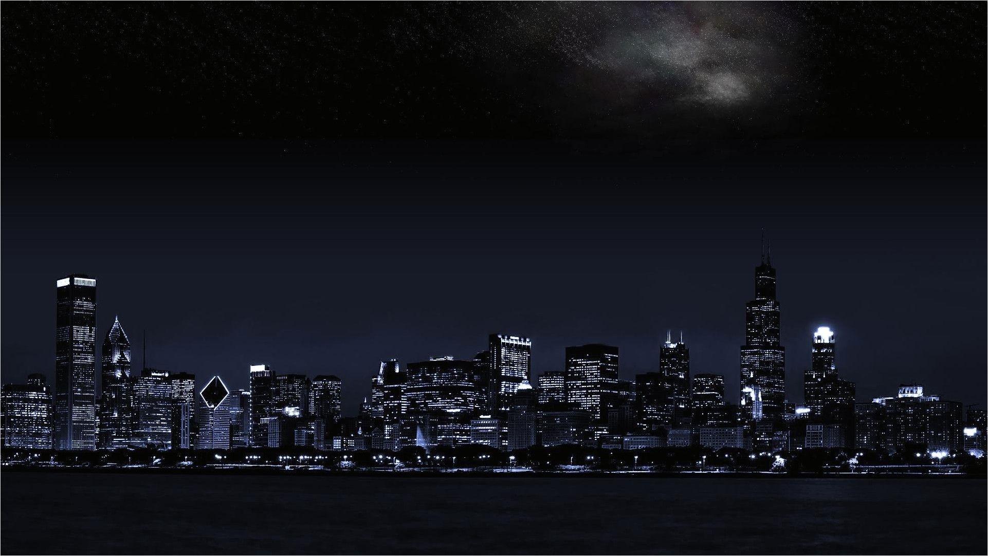 4k And 1080p Dual Monitor Wallpaper Pemandangan Kota Malam