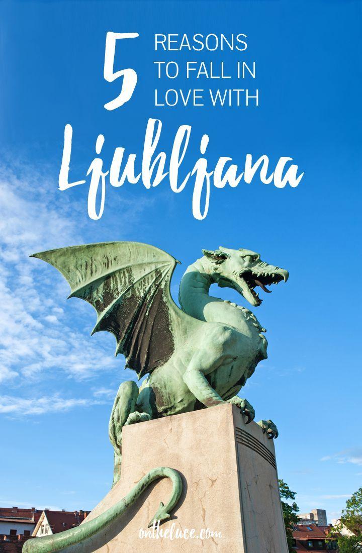 Five reasons why the compact Slovenian capital Ljubljana makes a perfect city break destination – beautiful buildings, green spaces, history and culture #Ljubljana #Slovenia