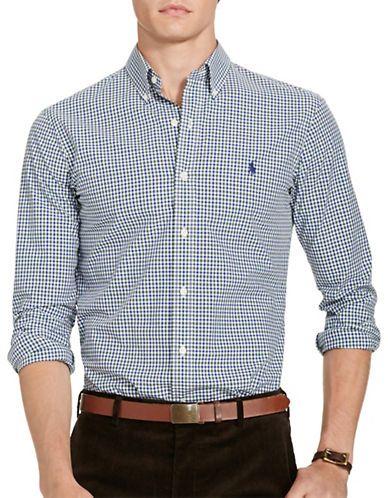 POLO RALPH LAUREN Polo Ralph LaurenGingham Poplin Shirt. #poloralphlauren #cloth #