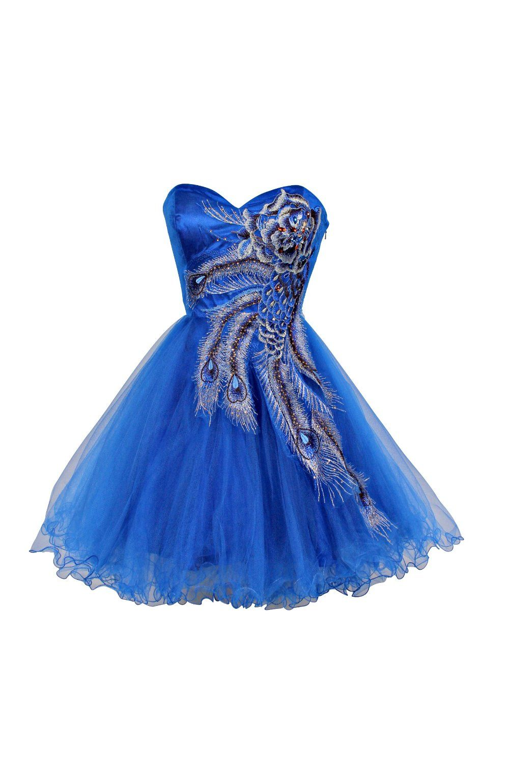 79cfc97ce6c09 Metallic Peacock Embroidered Holiday Party Prom Dress Junior Size ...