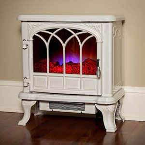 Duraflame 550 Cream Electric Fireplace Stove With Remote Control
