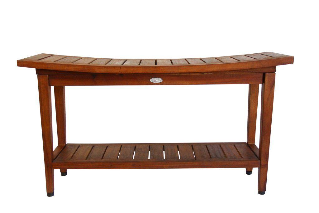 Spa Bath Shower Waterproof Stool Bench Shelf 36 Wood Shower
