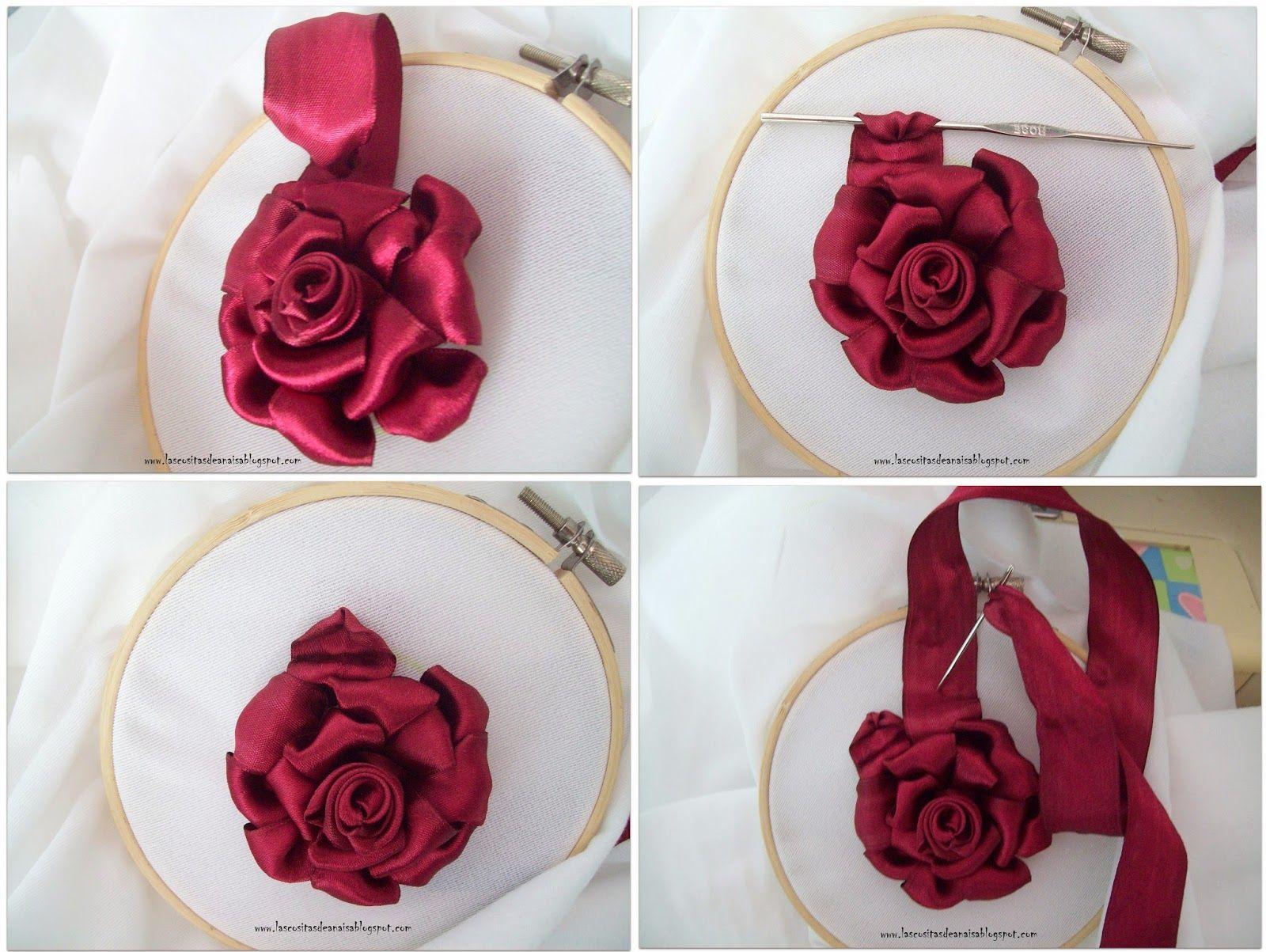 rosas de cintas patrones - Buscar con Google