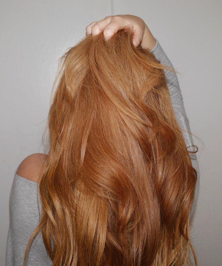Photo of langes erdbeerblondes / kupferblondes Haar #Haar #Frisuren #Haarfarbe #Strawb
