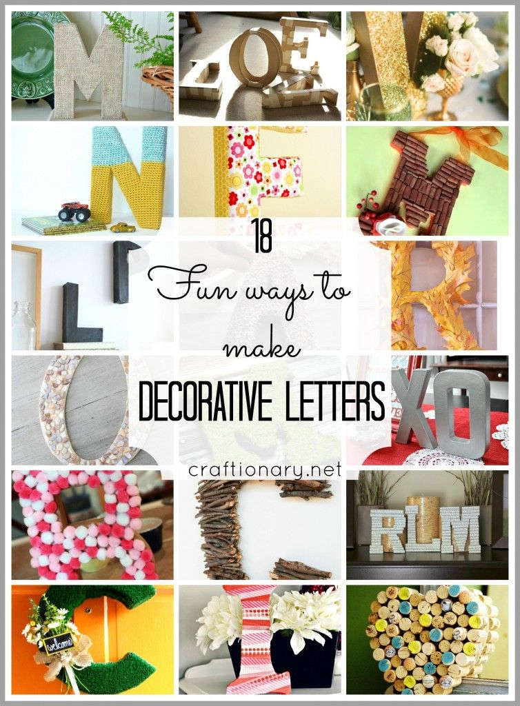 18 ways to make decorative letters (Easy and creative) - Craftionary