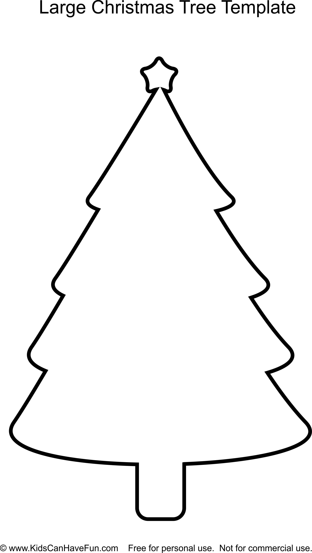 Large Christmas Tree template http://www.kidscanhavefun
