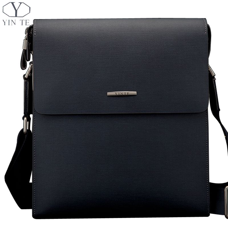 59292c5d69 Find More Crossbody Bags Information about YINTE Men s Shoulder Bags  Leather Men Messenger Blue Bags Business